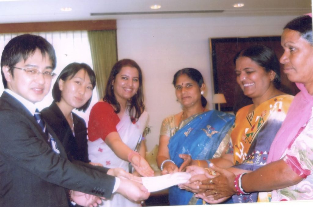 Representatives of RJVS receiving the grant from Embassy of Japan