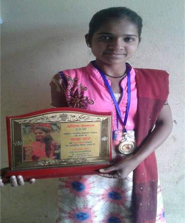 Maya with garima award